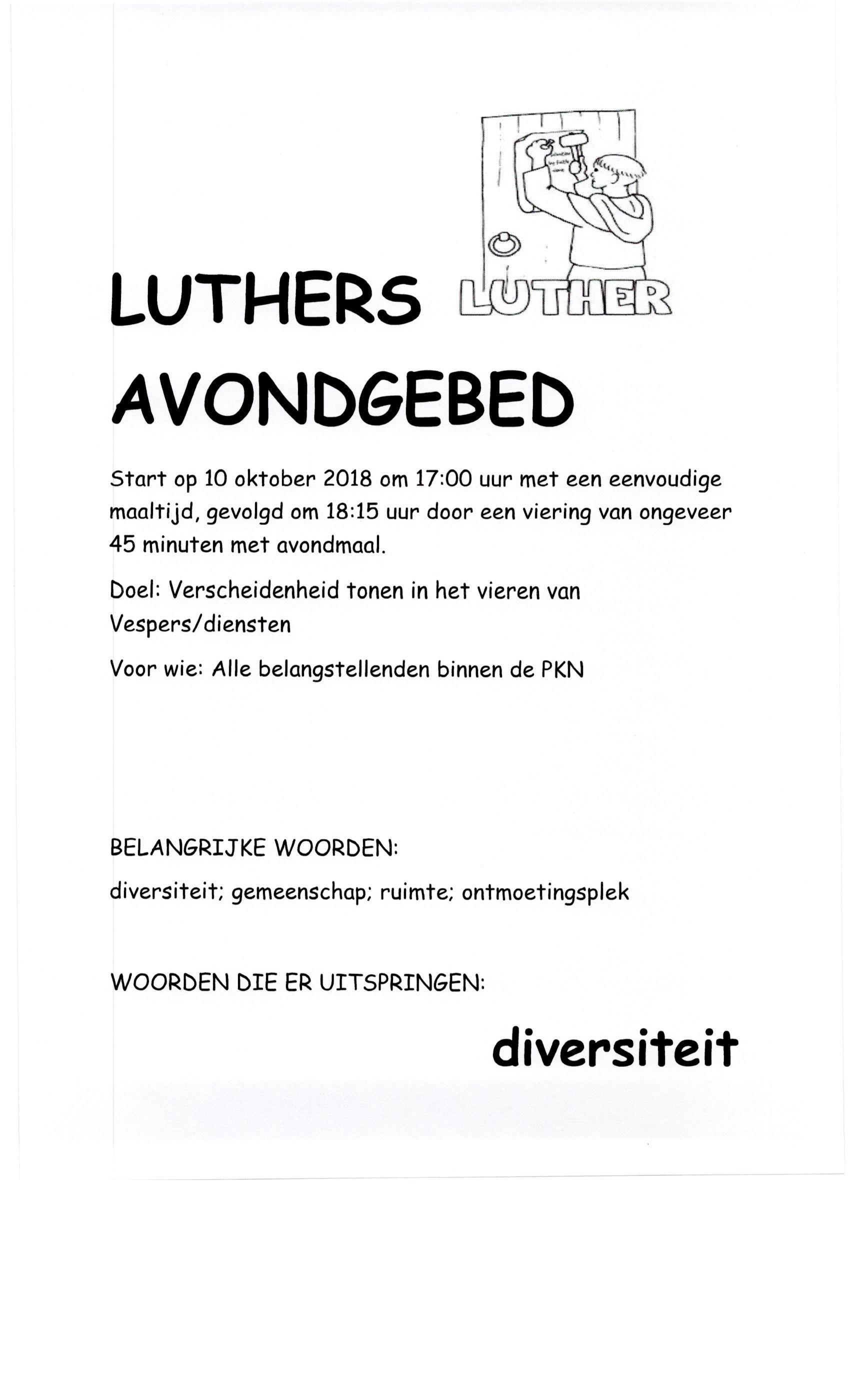 13 luthers avondgebed